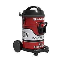شارب مكنسة كهربائية إسطوانية بسعة 21 لتر 2100 واط، احمر - EC-CAS2121-Z
