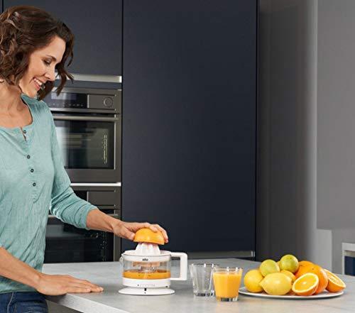 Braun CJ3000 WH - Exprimidor zumo de naranjas, 20 w, 350ml, cantidad pulpa ajustable, apto para lavavajillas, blanco