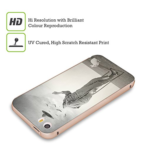 Ufficiale Lacabezaenlasnubes Fiori Surreale Oro Cover Contorno con Bumper in Alluminio per Apple iPhone 5 / 5s / SE Soldato
