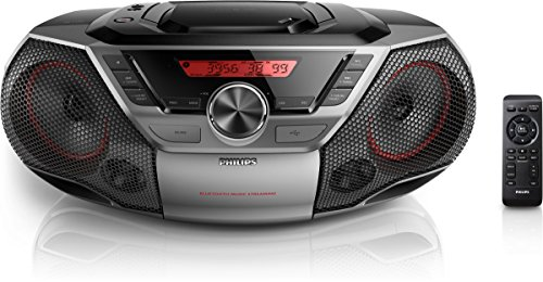 Philips AZ700T CD-Soundmachine (Bluetooth, NFC, USB Direct, 12 Watt) schwarz -