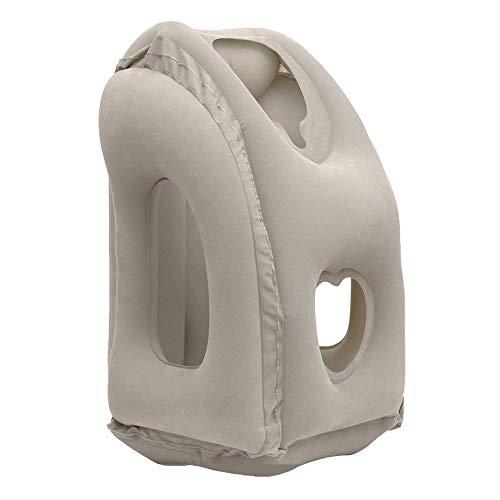 Oreiller de voyage pour avions - confortable avec oreiller de vol portable pour le soutien de la nuque et de la tête | Oreiller gonflable de voyage pour des voyages de trains, des autobus, la sieste d