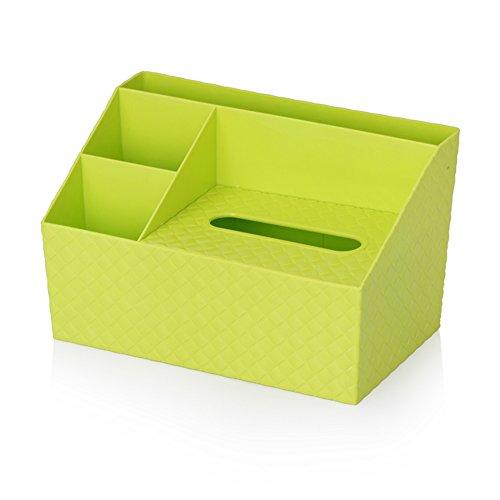 qearly creativi tessuti cosmetici Box penna Tazza Storage Basket Office Organizer, verde
