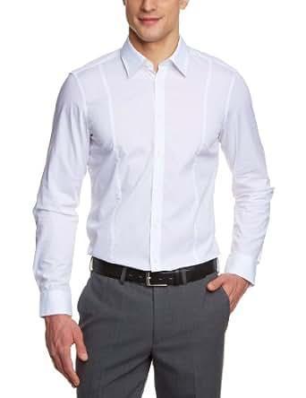 Venti Herren Businesshemd Slim Fit 001470/0, Gr. 37, Weiß (0 weiß)