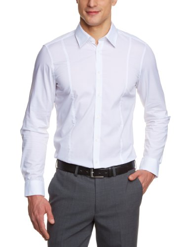 Venti Herren Businesshemd Body Fit 001470/0, Gr. 44, Weiß (0 weiß)