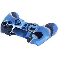 Cubierta de Goma Suave del Protector de la Piel de la Caja Suave del silicón del Camuflaje Colorido para Play Station 4 para el regulador de PS 4 los 17cm los x 11cm