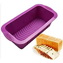 ON GAET Rectangle Shape Toast Bread Mold Silicone Jelly Ice Baking Mould DIY Cake Decorations Loaf Pan Bakeware Random Color