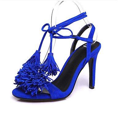 LvYuan Da donna Sandali Di pelle Primavera Estate A stiletto Nero Rosso Blu 10 - 12 cm Blue