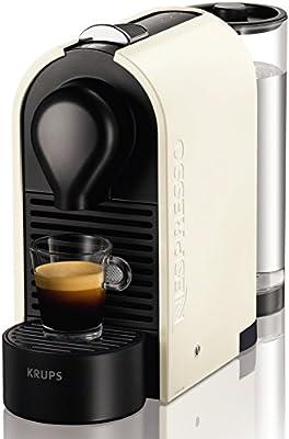 Nespresso U XN 2501, cafetera de cápsulas, 19 bares, Krups, depósito modular, táctil, automática, color pure cream