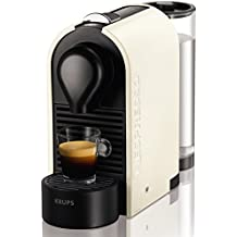Krups Nespresso U XN2501 - Cafetera de cápsulas, 19 bares, 3 programas de café, depósito modular, función de autoapagado, color blanco
