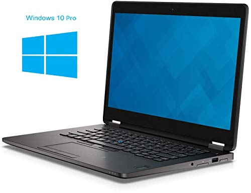 Dell Latitude E7470 Notebook / Laptop | 14 Zoll Display | Intel Core i7-6600U @ 2,6 GHz | 16GB DDR4 RAM | 256GB SSD | ohne DVD-Laufwerk | Windows 10 Pro (Generalüberholt) - I7 Dell Laptop-core