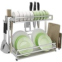 LAXF-Pequeño Escurridor de Platos de Cocina Rack de Secado Bastidor  Multifuncional de Acero Inoxidable d70793c198ee