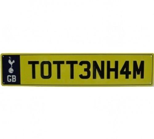 Tottenham Hotspur F.C. Number Plate Schild, Mehrfarbig, Nicht zutreffend
