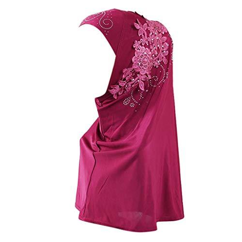 ITISME Mode Musulmane, Vetement Hijab Mode Hijab ÉCharpe À Double Boucle Sur Foulard En CrêPe ÉCharpe Pratique Femme VoiléE