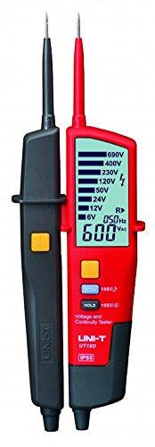Tester di tensione e continuità [UNI-T UT18D] IP65, display LCD