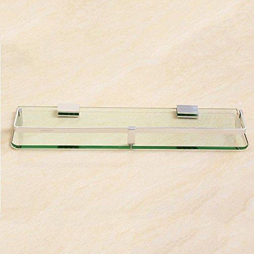 YIXINY Badezimmerablagen Raum Aluminiummaterial 7.4mm ausgeglichenes Glas gebürstetes Polier einfach und praktisch (größe : 13 * 30cm)