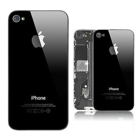 Vitre coque arrière Noir Haute Qualité remplacement pour Iphone 4S complet avec châssis prémonté+free star screwdriver