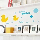 ALLDOLWEGE Persönlichkeit Kinder- Schlafzimmer Wand wc dusche Glas Fliesen wasserdicht dekorative Poster die Ente Wall Sticker entfernen