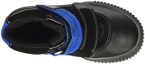 Richter Kinderschuhe Sprint, Baskets Basses Garçon Noir - Schwarz (black/lagoon 9901)