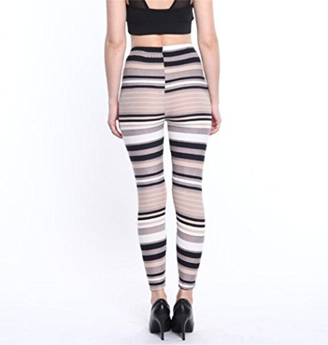Arokrin - Legging - Femme taille unique Khaki Stripes