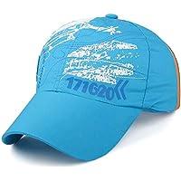 YUANCHENG Gorras de béisbol para niños Masculinas Femeninas Redes de Escuela Primaria Gorras de Secado rápido al Aire Libre Campamento de Verano Sombrero de sombrilla Gorra Snapback HC003-46-07