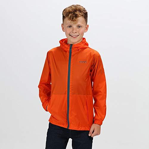 Regatta Kid Pk It Jkt III Jacket, Blaze Orange, 9-10