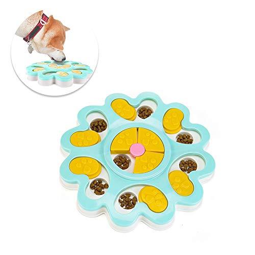 Hund IQ Ausbildung - Spielzeug, Rutsch-Puzzle-Schale, lustiges Futternapf, Hundespielzeug, Tier-Ausbildung, Spiele-Feeder (Blau) (Puzzle Schale Für Hunde)