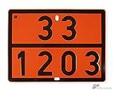 ADR Gefahrgutwarntafel starr Stahlblech 33/1203 reflektierend 400x300 mm orange