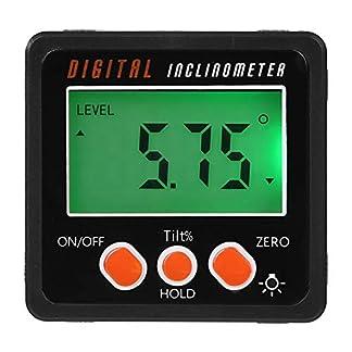 Gaoominy Medidor De ángulo, Caja Del Nivel Inclinómetro Transportador Digital De Precisión, Buscador De ángulos Digital Caja De Bisel Con Base De Imán