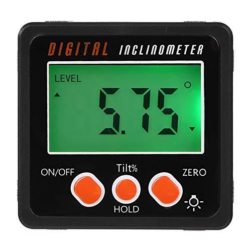 XZANTE Medidor De ángulo, Caja Del Nivel Inclinómetro Transportador Digital De Precisión, Buscador De ángulos Digital Caja De Bisel Con Base De Imán