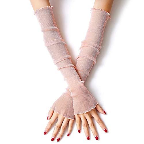 Blumen Bogen Spitze Handschuhe Frauen Braut Hochzeit Handschuhe Party Fancy Costumes, Sonnenschutzhandschuhe, Armschutz Handschuhe, Grillhandschuhe, Arbeitshandschuhe, (Color : Pink) (Hash Tag Kostüme)