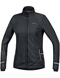 Gore Running Wear Chaqueta para Correr, Mujer, Resistente al Viento, GORE WINDSTOPPER Soft Shell, MYHTOS LADY 2.0 WS SO, Talla 42, Negro, JWSMYL990006