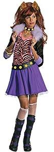 Monster High - Disfraz de Clawdeen Wolf para niña, infantil 8-10 años (Rubie