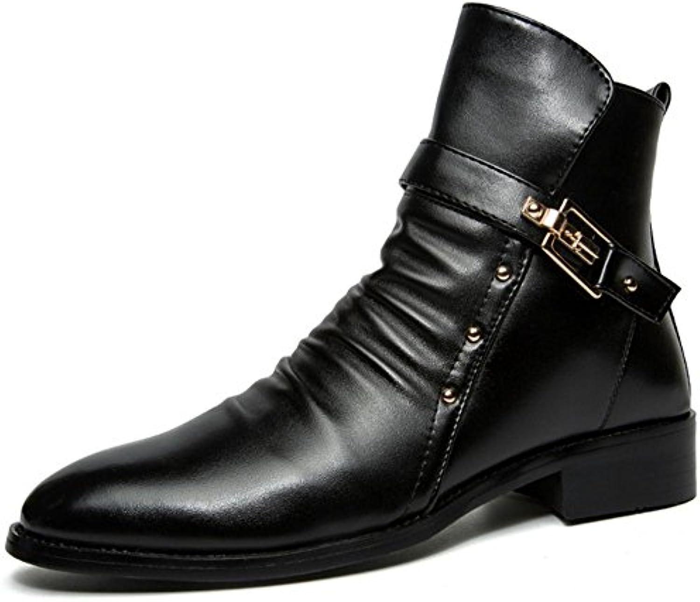 TAOFFEN Herren Mode Casual Schuhen Chukka Boots