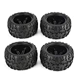 Lorenlli 4Pcs 150mm Cerchione e Pneumatici per 1/8 Monster Truck Fit Traxxas Fit HSP Fit HPI Fit E-MAXX Savage Flux Racing Accessori Auto RC