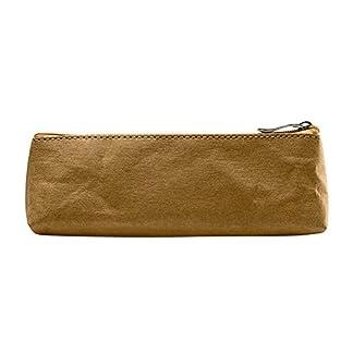 gossipboy washbale Kraft papel Vintage pluma bolsa simple caja estuche portátil soporte de almacenamiento de papelería make up Pouch