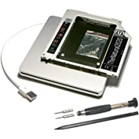 HDD/SSD SATA III adaptador para MacBook (Pro) sustituye SuperDrive + carcasa USB Slim (plata) para SuperDrive - 9.5 mm caddy kit (SATA - SATA) - TheNatural2020