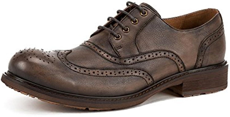 LYZGF Männer Herbst Booties Casual Mode Britischen Schnürsenkel Lederstiefel