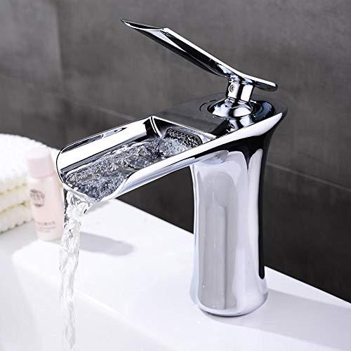ETERNAL QUALITY Bad Waschbecken Wasserhahn Einhebelmischer Mit Heißem Und Kaltem Wasserfall - 2 Gpm Flow Control