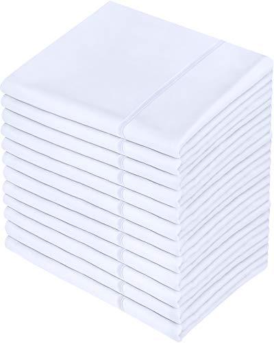 Utopia Bedding Juego de 12 Fundas de Almohada - Microfibra Cepillada - Blanco, 50 x 75 cm