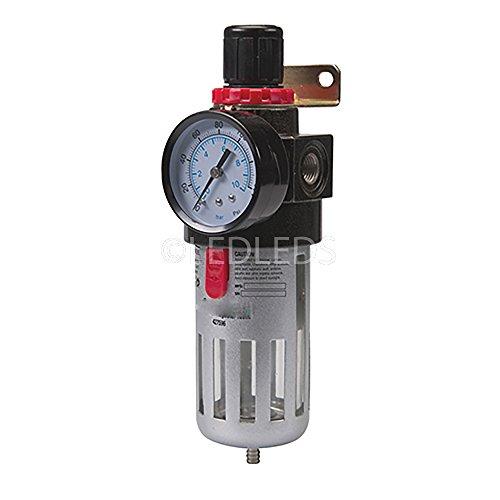 Filtro riduttore manometro attacco 14 regolatore per compressore (Regolatore Filtro)