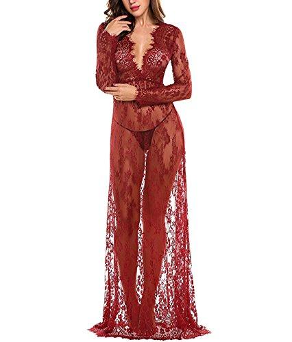 BF-dress Damen Empire Kleid Rot