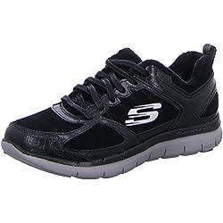 Skechers Flex Appeal 2.0 Soft Shock Women's Trainers fitness lite black, Numero di scarpe:EUR 41