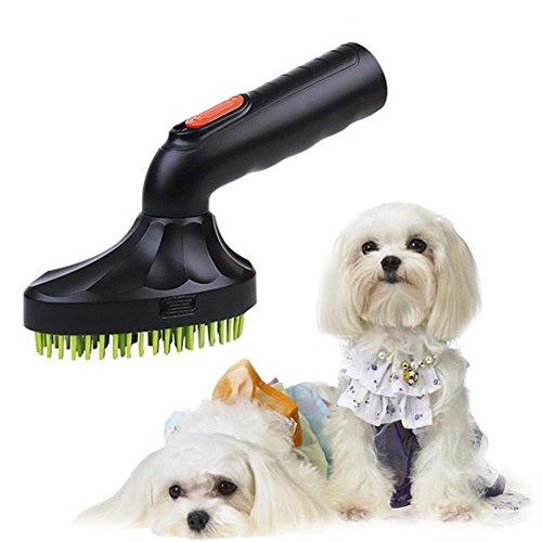 GEZICHTA Mini-Turbo zum Entfernen von Schmutz-Bad- und ZUPFBÜRSTE, selbstreinigend, für Hunde/Katzen, Boden-Bürste, selbstreinigend, zur Fellpflege Harke Fell-Design, Kamm für kleine, mittlere,