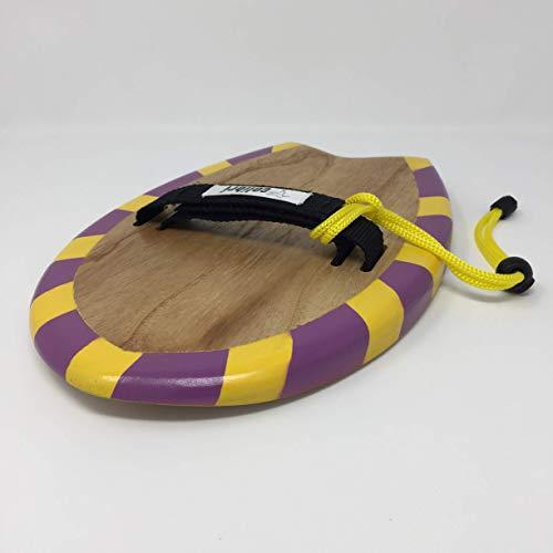 Handboard - handplane Bodysurf de madera de Paulownia. Shape: Esta handboard para bodysurf lleva Tail swallow. Medio tunel en el bottom para tener mayor estabilidad. Rocker medio para evitar picar la ola. Outline afilado en el tail para tener potenci...
