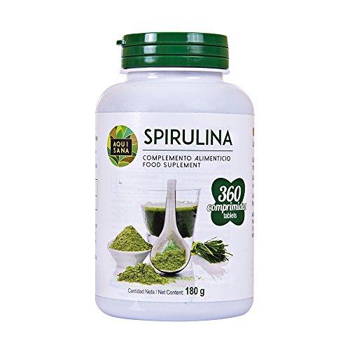 Capsule di Spirulina, Estratto puro, 100% puro, 360 compresse, ad alto dosaggio per capsula, spirulina polvere in capsule, benefici, potenza massima, consigliata per gli atleti