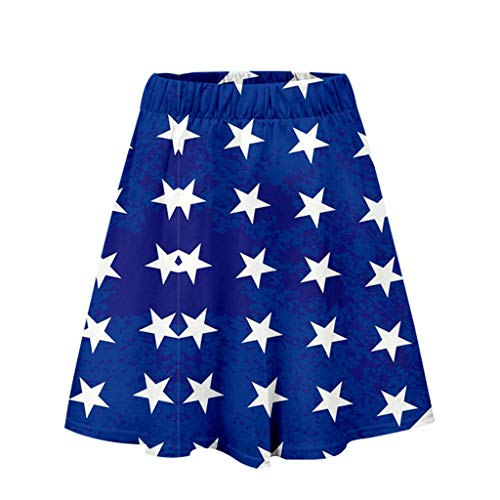 mmer-T-Shirts mit amerikanischer Flagge Frauenrock mit Unabhängigkeitstag-Print Lässiger Rock Mode-Faltenrock ()