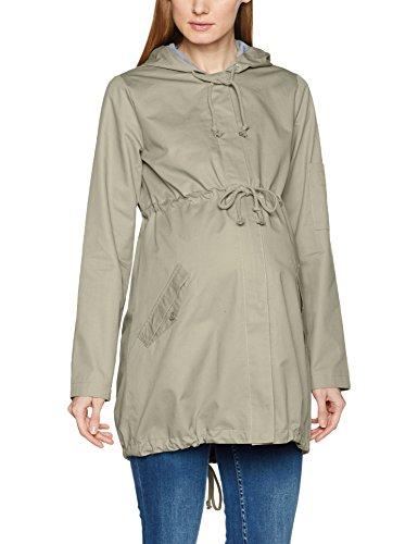 MAMALICIOUS Damen Umstandsjacke MLNANS L/S Parka Jacket, Beige (Climbing Ivy), 36 (Herstellergröße:S)