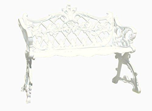 derrys ty342W Gusseisen 2-Sitzer Oxford Garten Sitz–Weiß