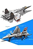 Ingenious Toys The Flying Requin Militaire Twin-Jet Avion de Chasse Modèle - Compatible Bloques de Construction #D001