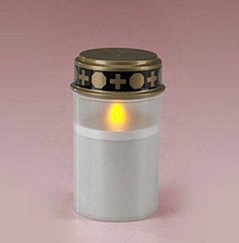 Grab Luz LED Blanco o Rojo 12,5cm, Grab Vela flackert, incluye pilas, Grab joyas